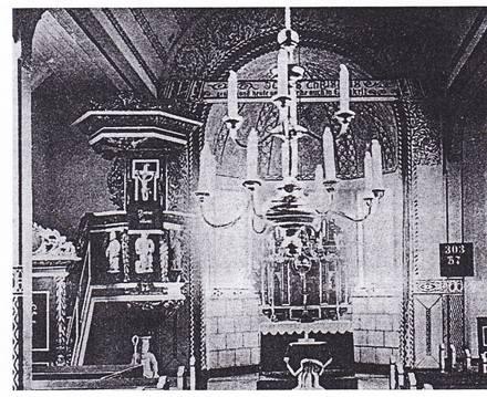 Dębica, pocz.XX w, wnętrze kościoła