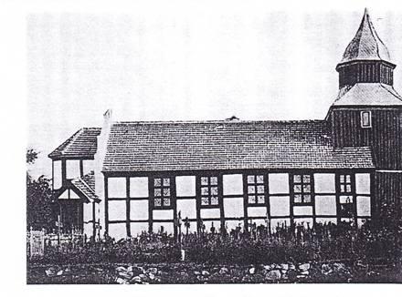 Dębica, pocz.XX w, widoczny cmentarz obok koscioła