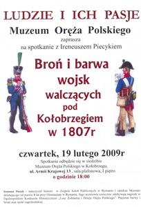 Informacja o spotkaniu w muzeum.