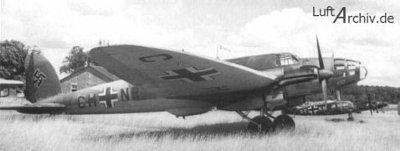 Podobne samoloty He 111 bazowały w Pinnow