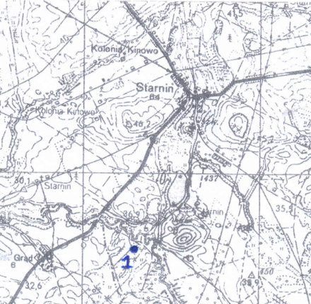 Mapa okolic Starnina